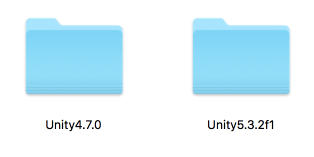 unity 4 and 5 mac os installed