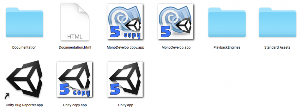 unity two instances with custom icons