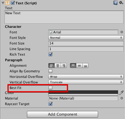 "UI Text ""best fit"" functionality for bitmap font in Unity"