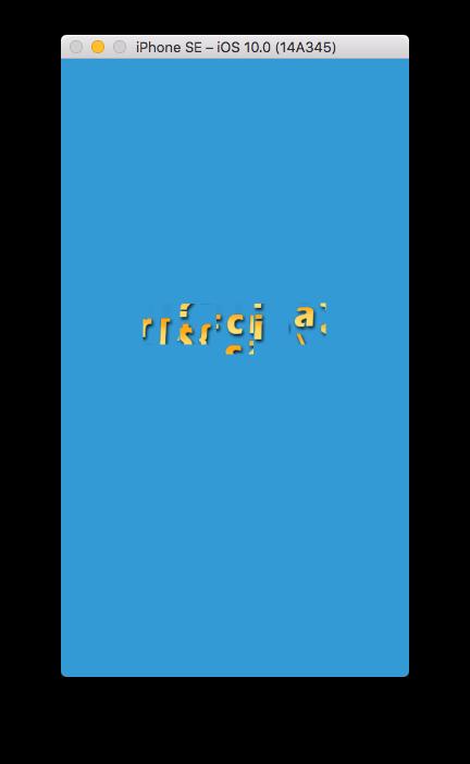 xcode simulator iPhone SE broken bitmap font