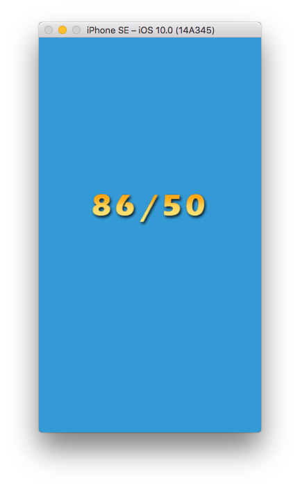xcode simulator iPhone SE fixed bitmap font